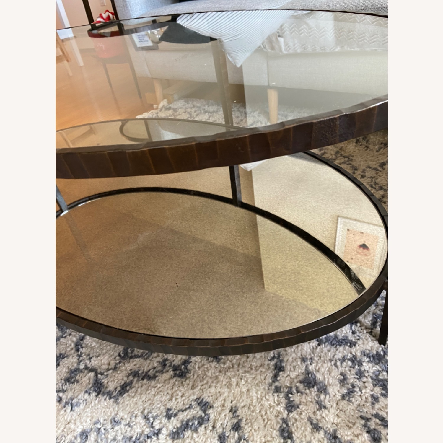 Crate & Barrel Clairemont Oval Coffee Table - image-3