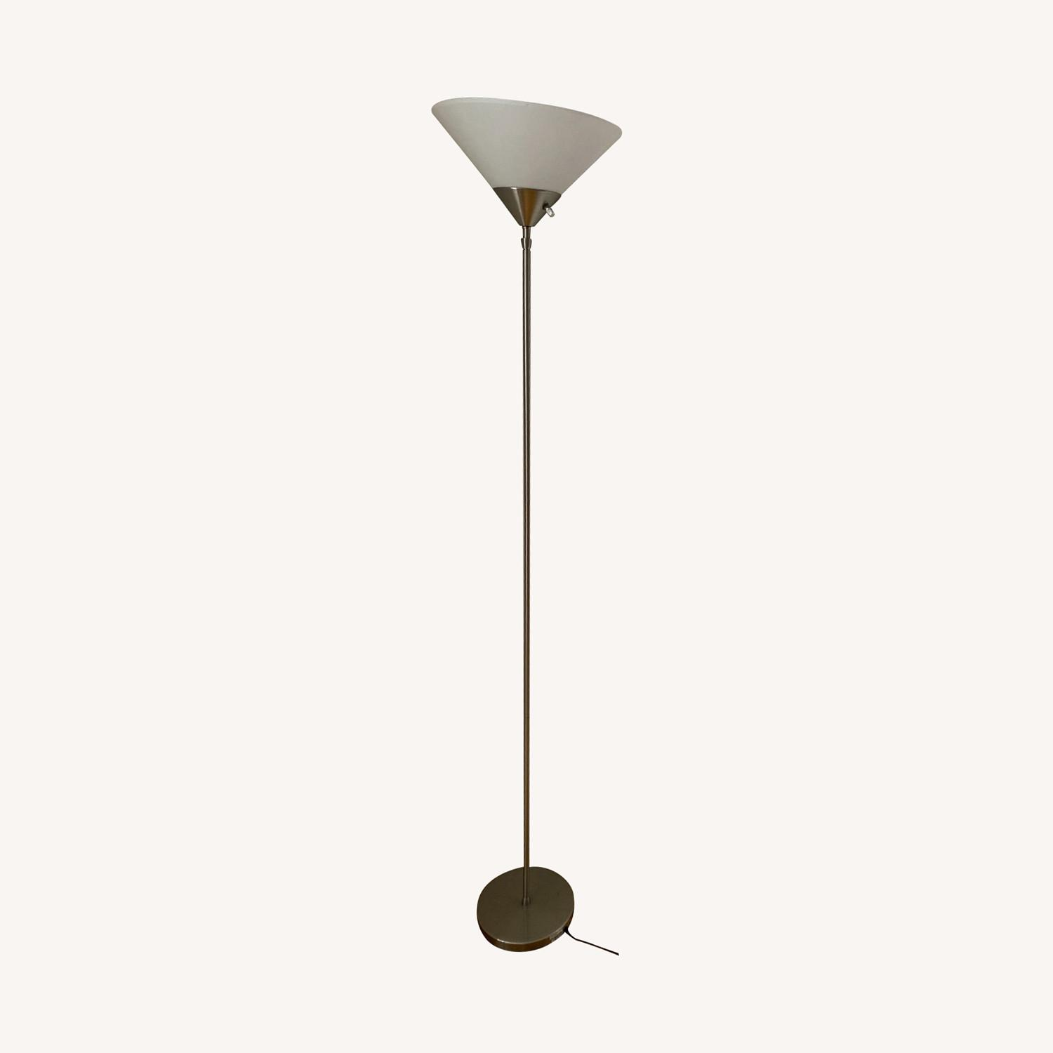 Metal Torchiere Lamp - image-0