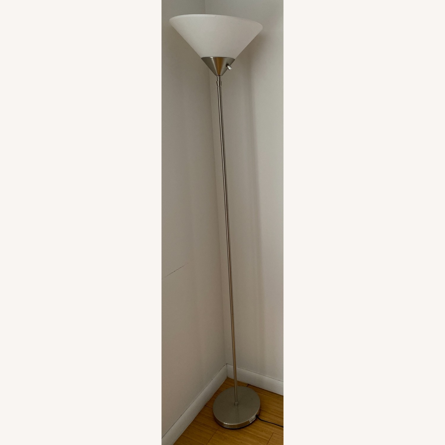 Metal Torchiere Lamp - image-1