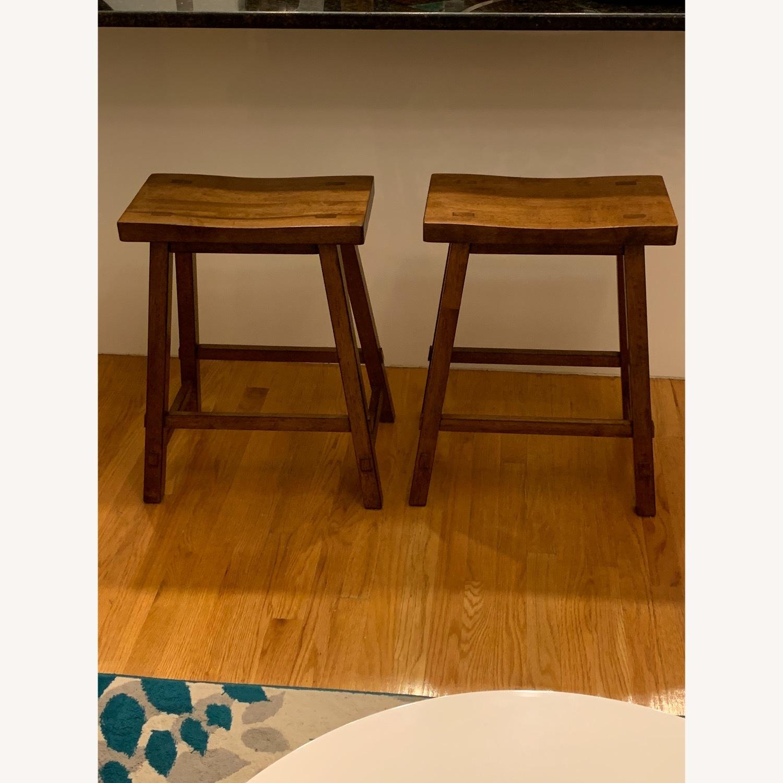 Wayfair Rustic Wooden Bar Stool Set - image-2