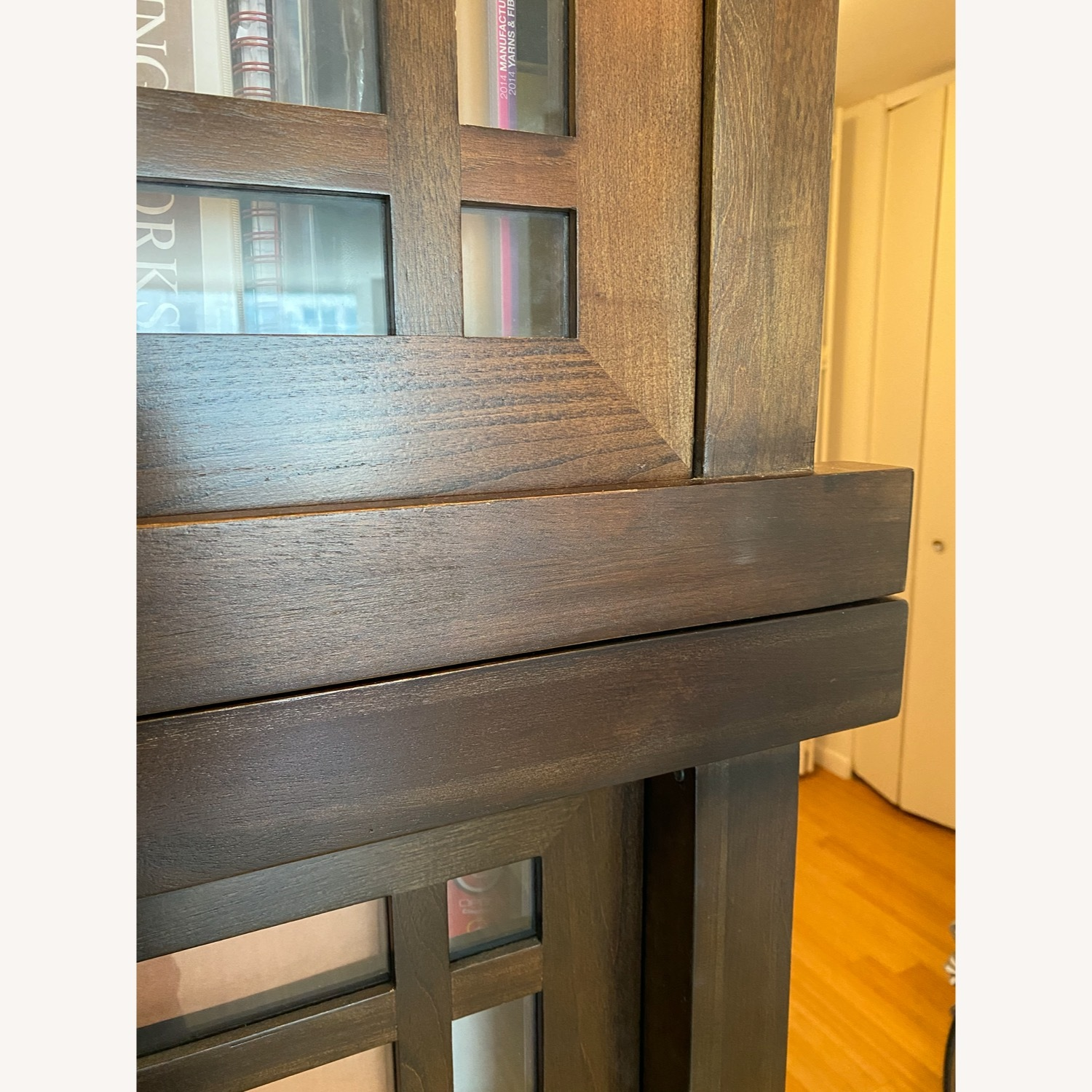 Room & Board Solid Walnut and Glass Stackable Bookshelf - image-3