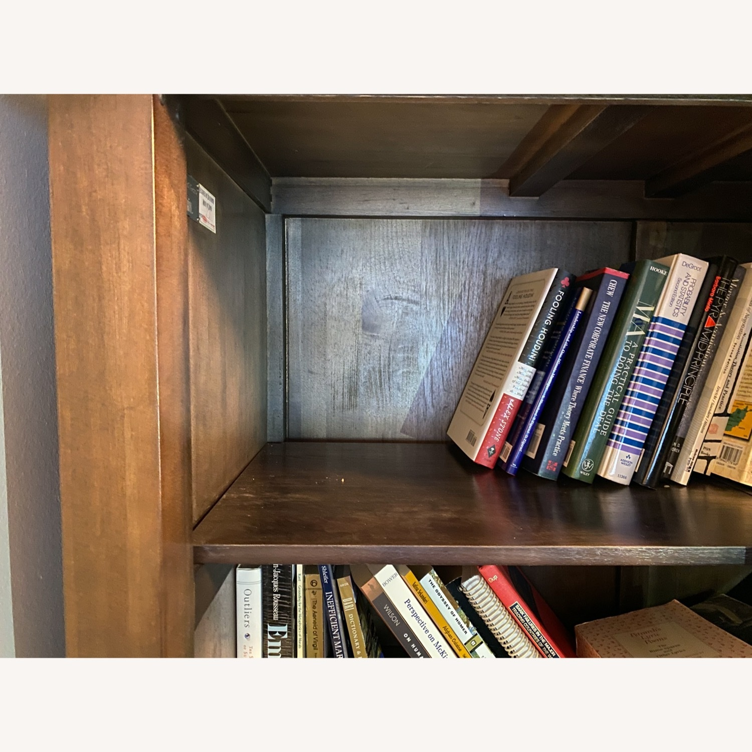 Room & Board Solid Walnut and Glass Stackable Bookshelf - image-5