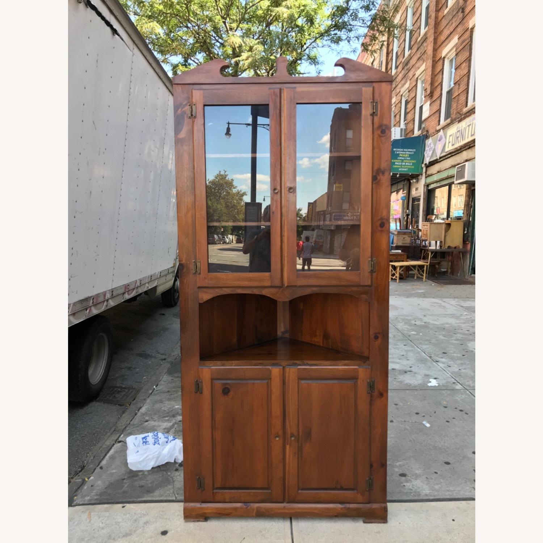 Mastercraft Vintage Pine Corner Cabinet Curio - image-27