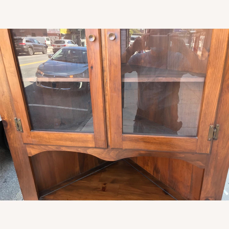 Mastercraft Vintage Pine Corner Cabinet Curio - image-10