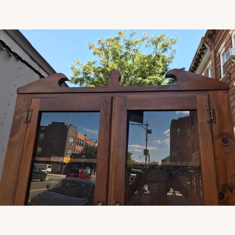Mastercraft Vintage Pine Corner Cabinet Curio - image-8