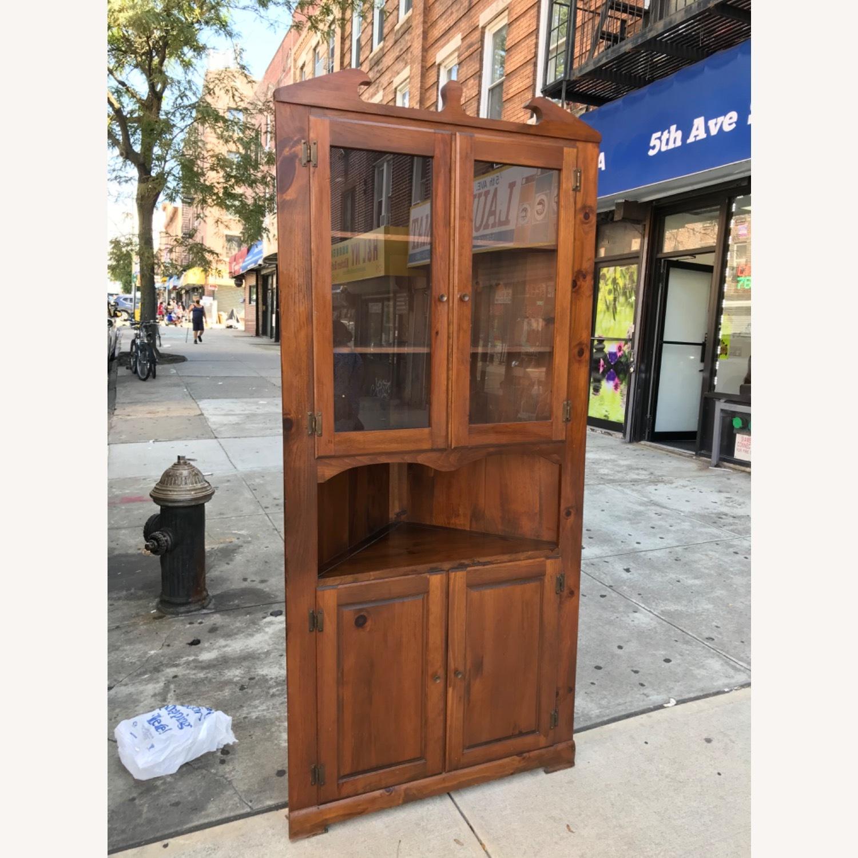 Mastercraft Vintage Pine Corner Cabinet Curio - image-4