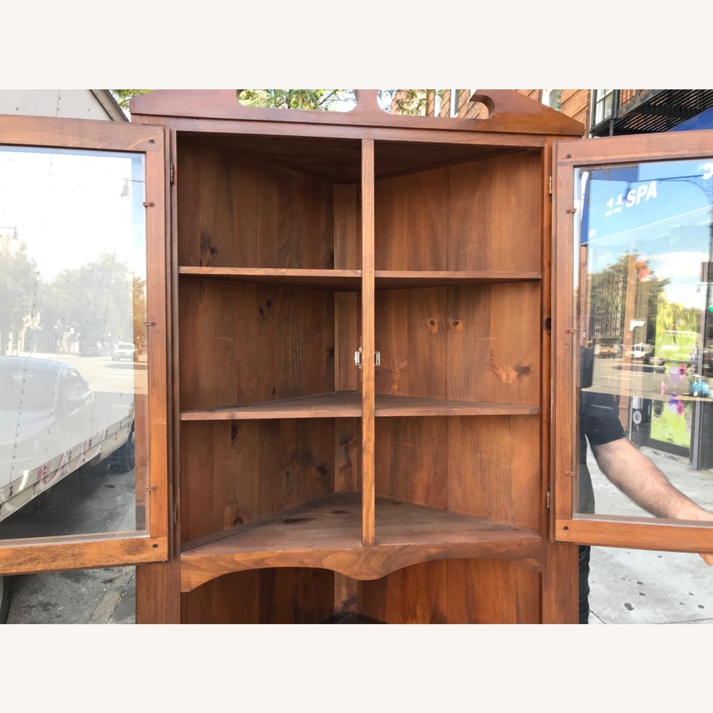 Mastercraft Vintage Pine Corner Cabinet Curio - image-13