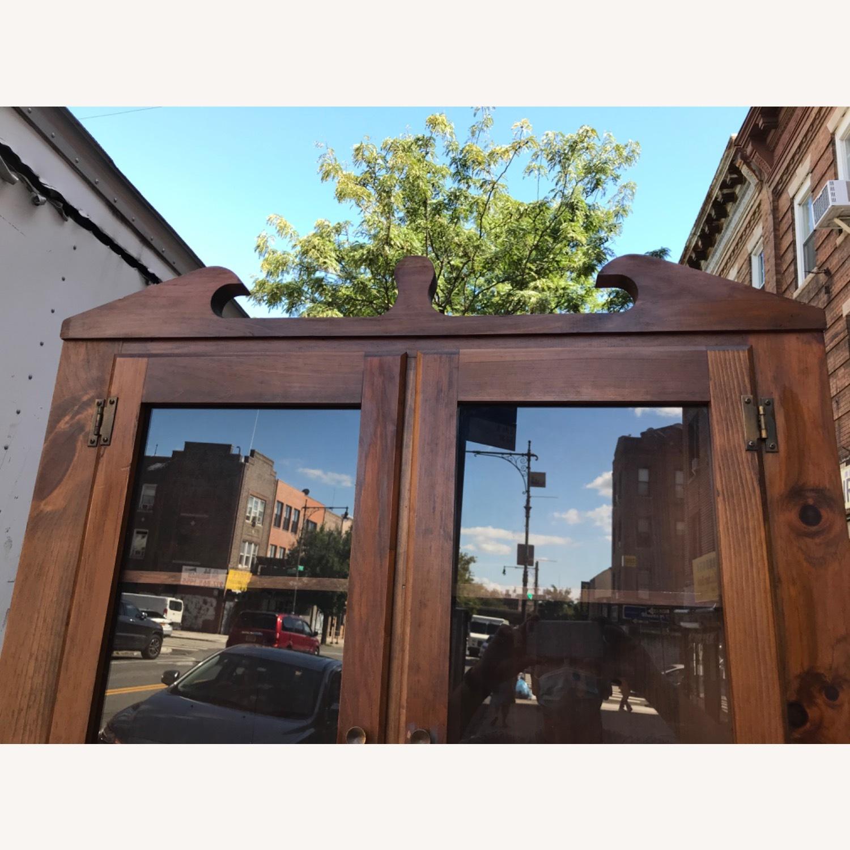 Mastercraft Vintage Pine Corner Cabinet Curio - image-7