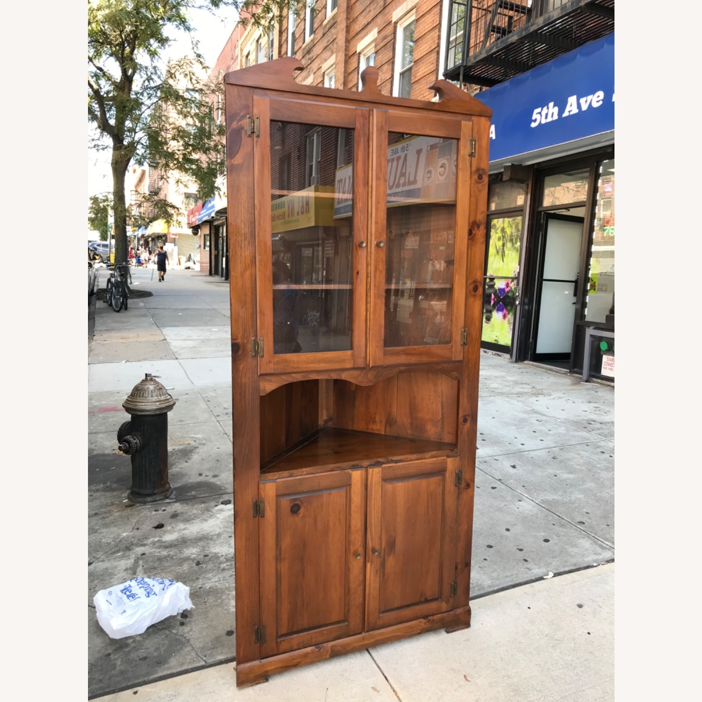 Mastercraft Vintage Pine Corner Cabinet Curio - image-3