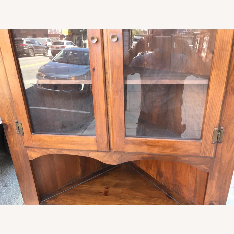 Mastercraft Vintage Pine Corner Cabinet Curio - image-9