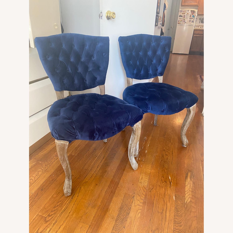 Blue Velvet Dining Chairs - image-6