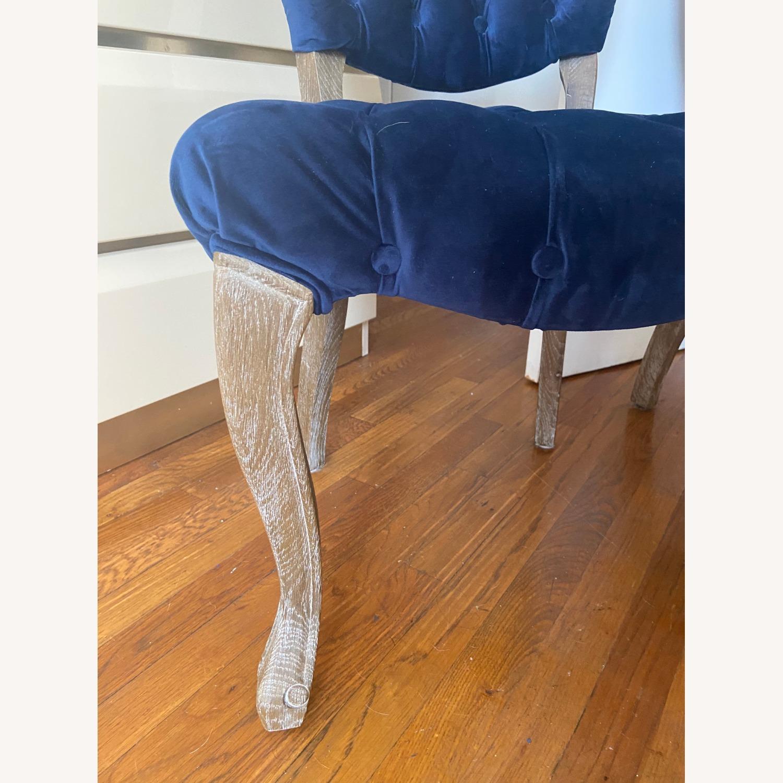 Blue Velvet Dining Chairs - image-3