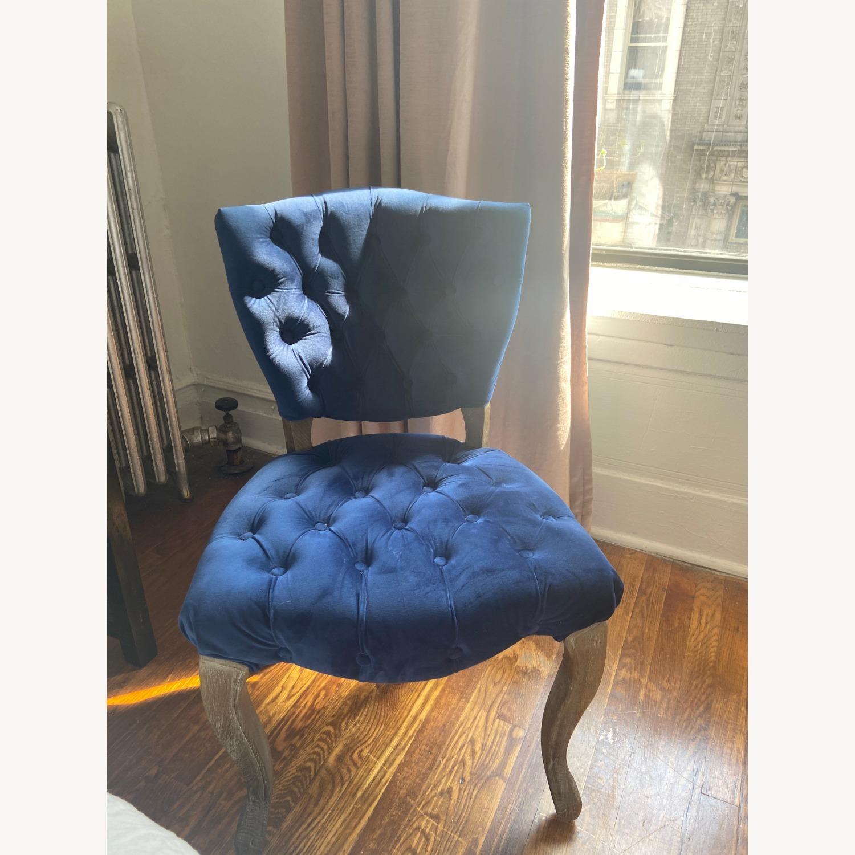 Blue Velvet Dining Chairs - image-1