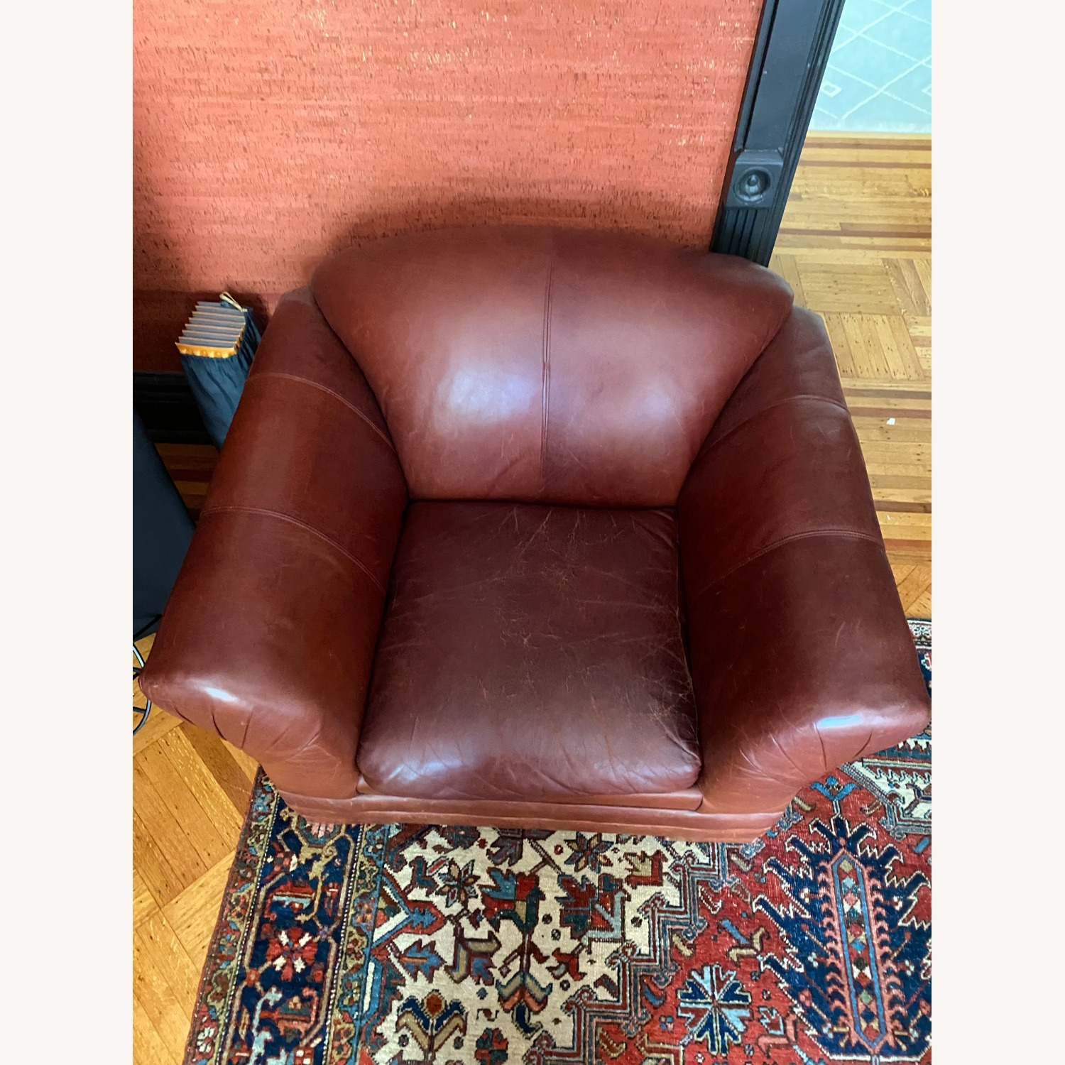 Wide Leather Armchair - image-2