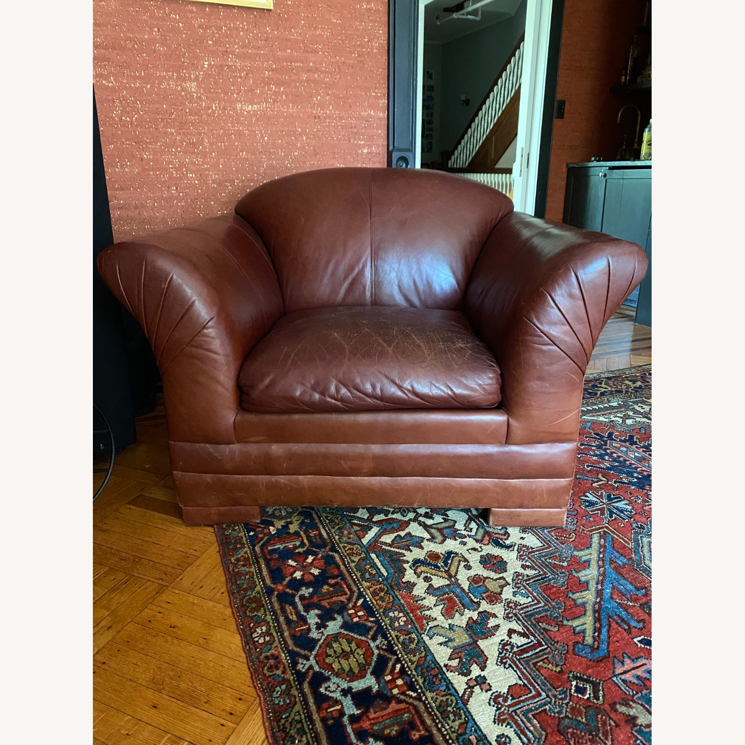 Wide Leather Armchair - image-4