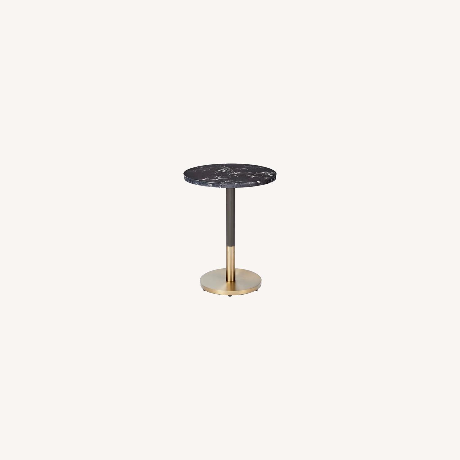 West Elm Marble Small Dining Table - image-0