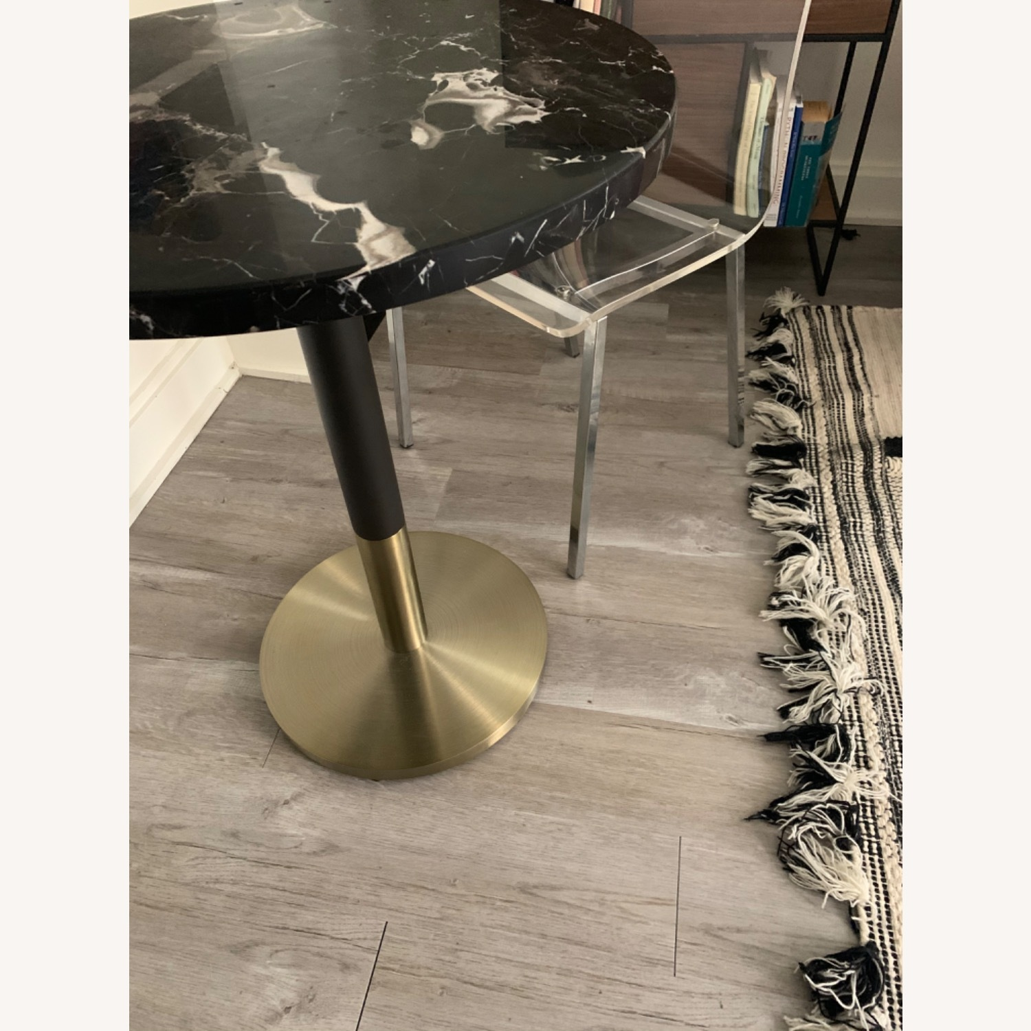 West Elm Marble Small Dining Table - image-2