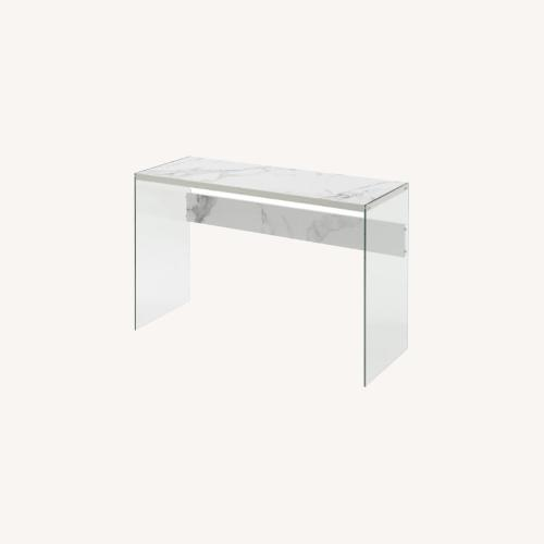 Used Wade Logan Marble/Glass Console Table for sale on AptDeco