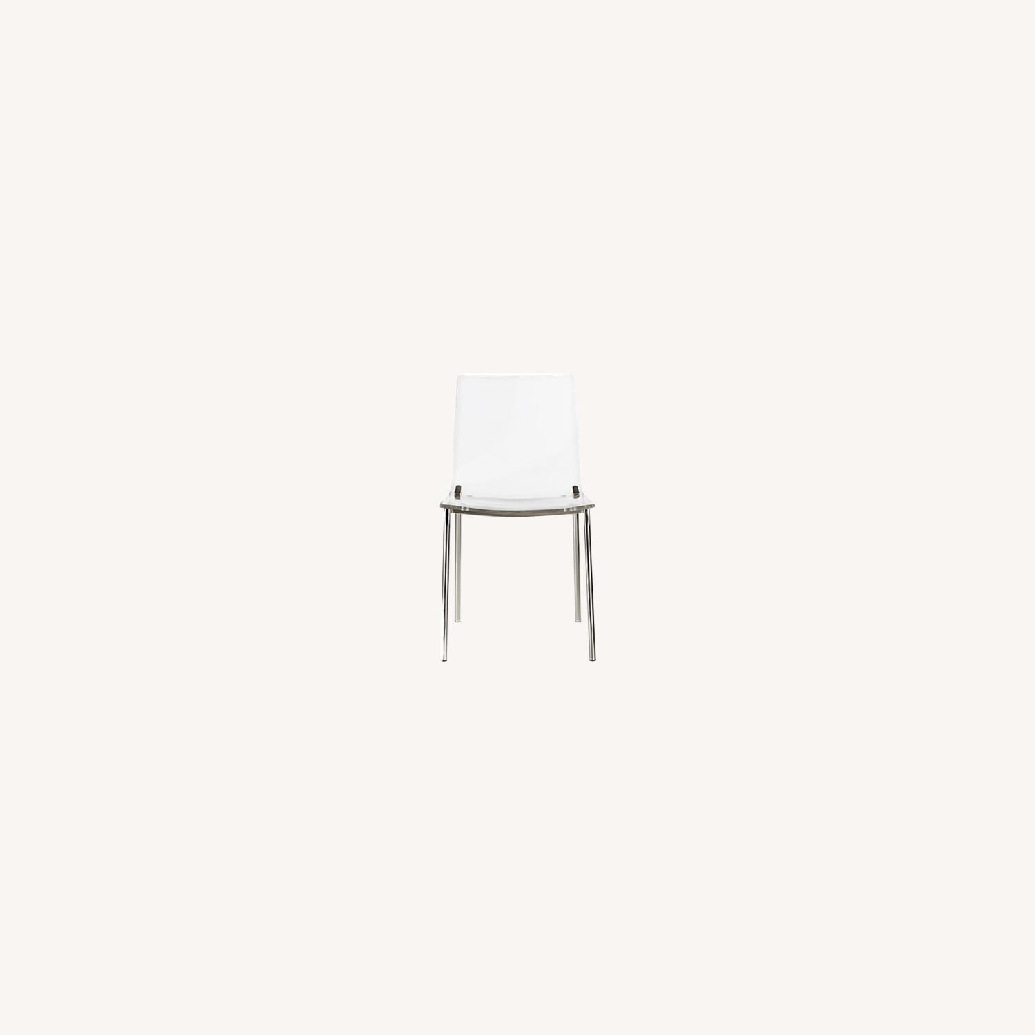 CB2 Clear Dining Chairs - image-0