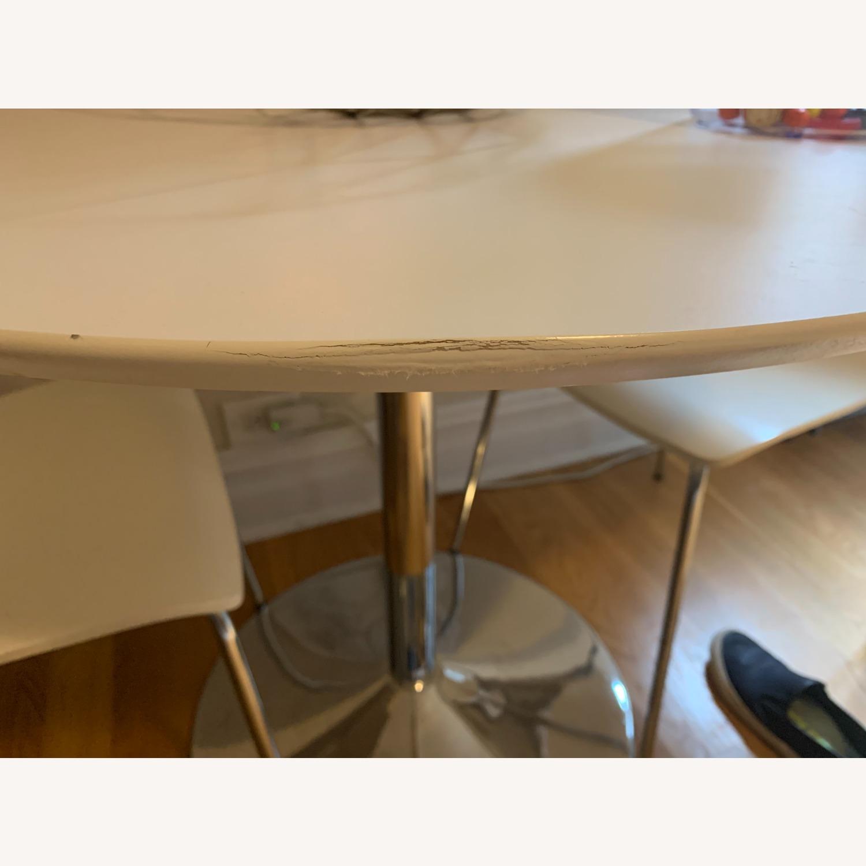 3 Piece White Dining Set - image-3