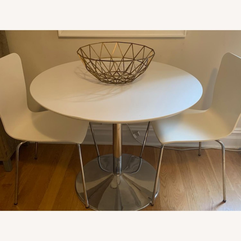3 Piece White Dining Set - image-1