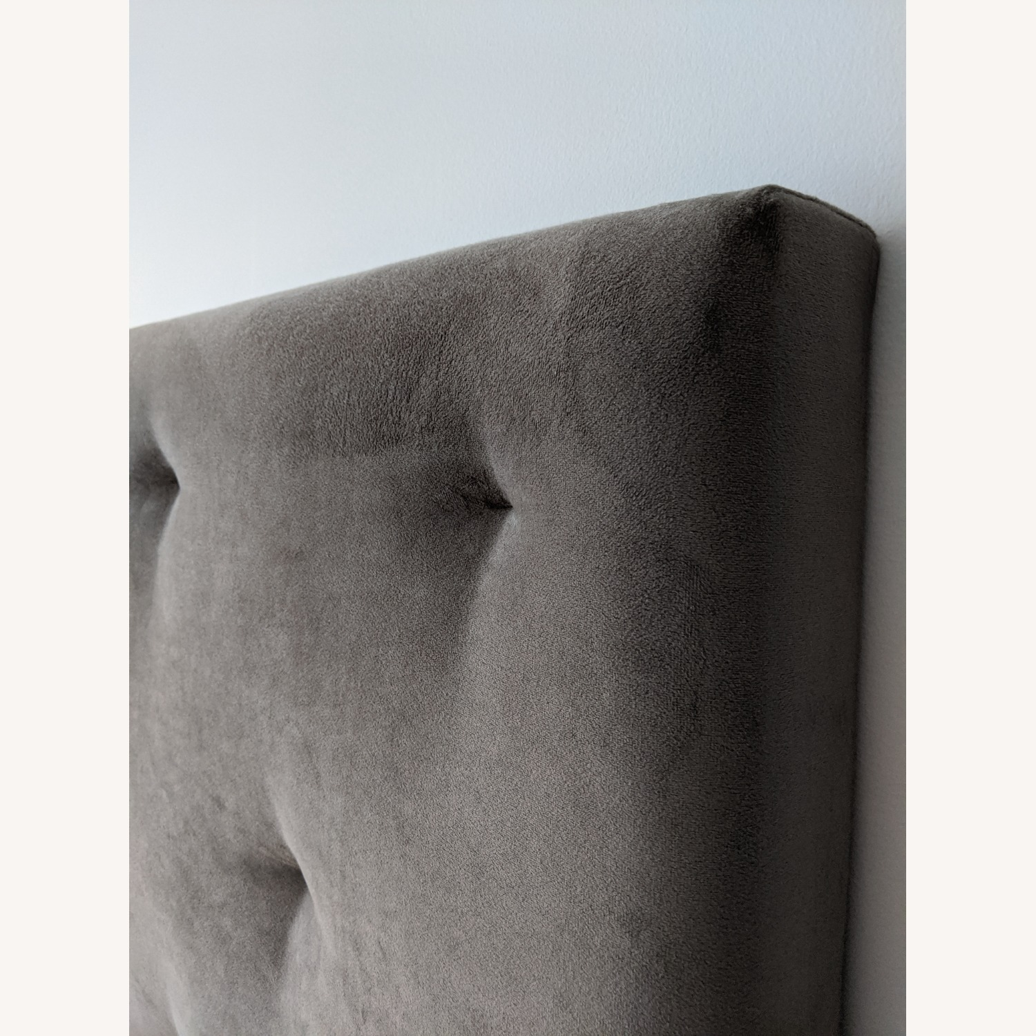 West Elm Dove Gray Tufted Headboard - image-4