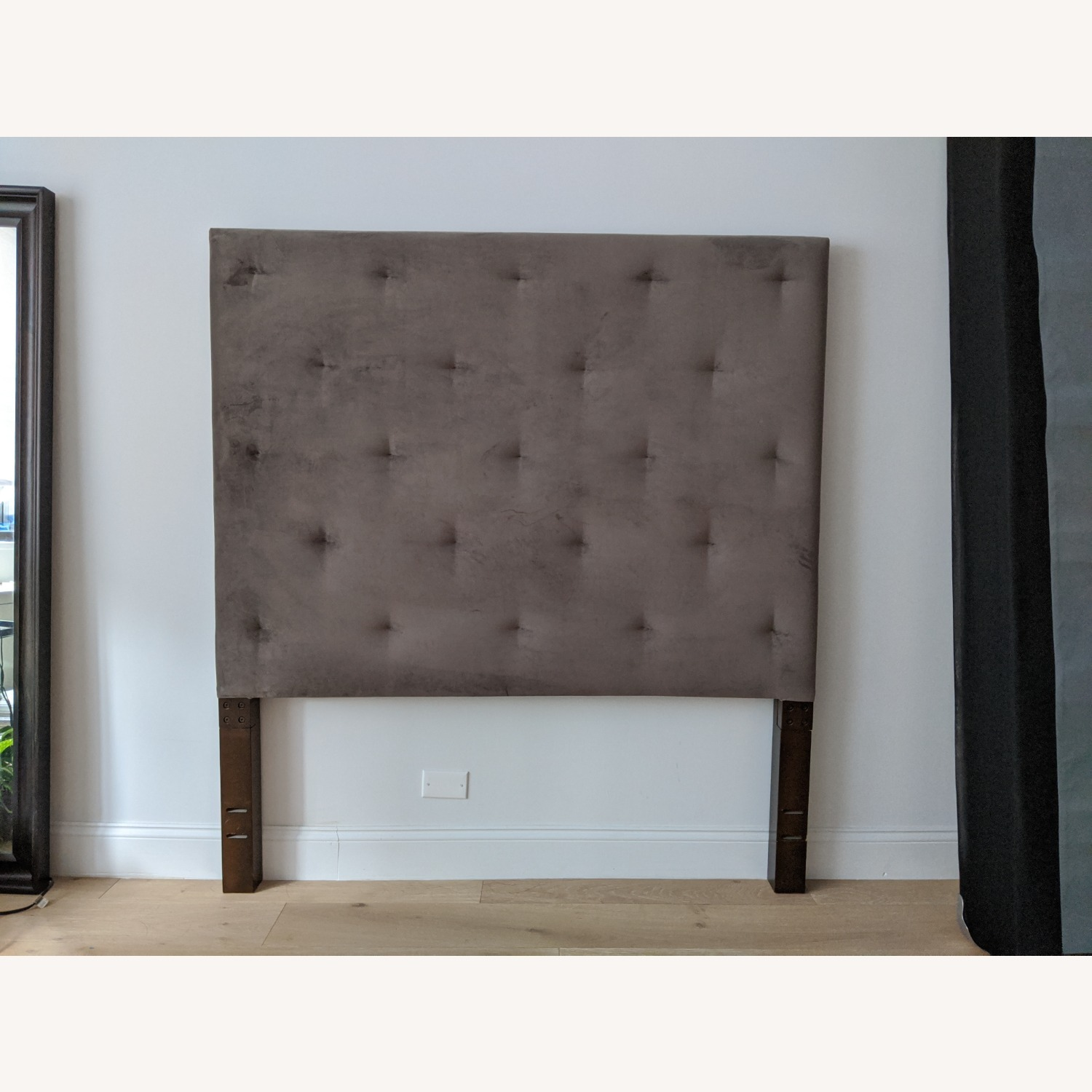 West Elm Dove Gray Tufted Headboard - image-2