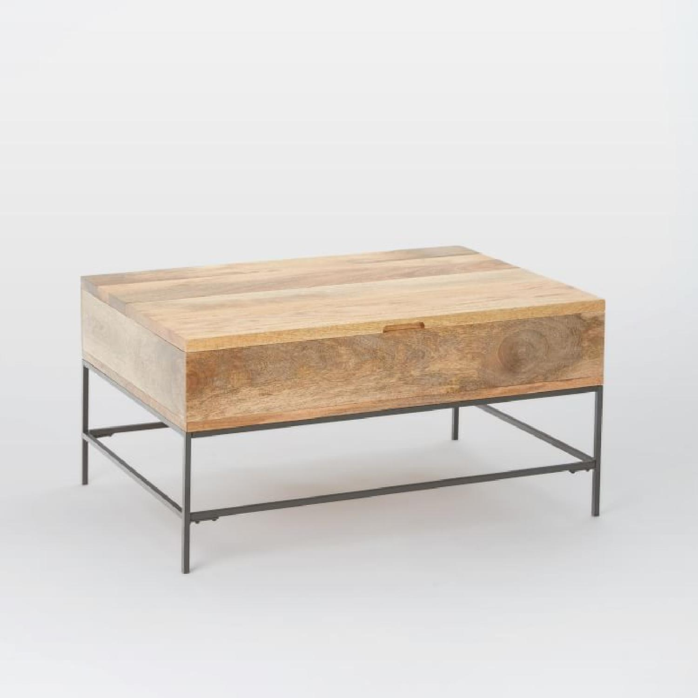 West Elm Industrial Pop-up Coffee Table - image-9