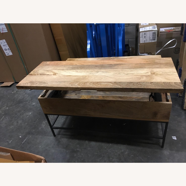 West Elm Industrial Pop-up Coffee Table - image-5
