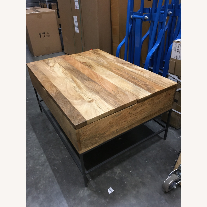 West Elm Industrial Pop-up Coffee Table - image-1