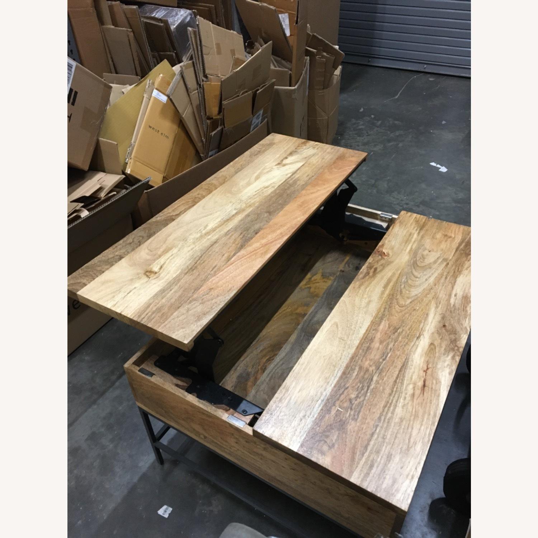 West Elm Industrial Pop-up Coffee Table - image-3