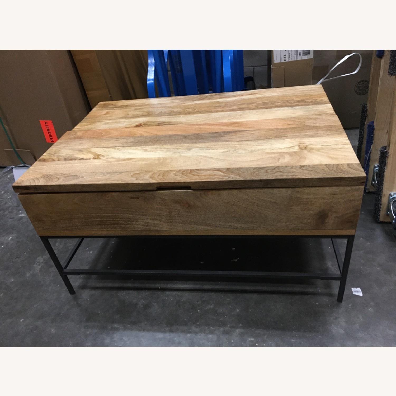 West Elm Industrial Pop-up Coffee Table - image-8