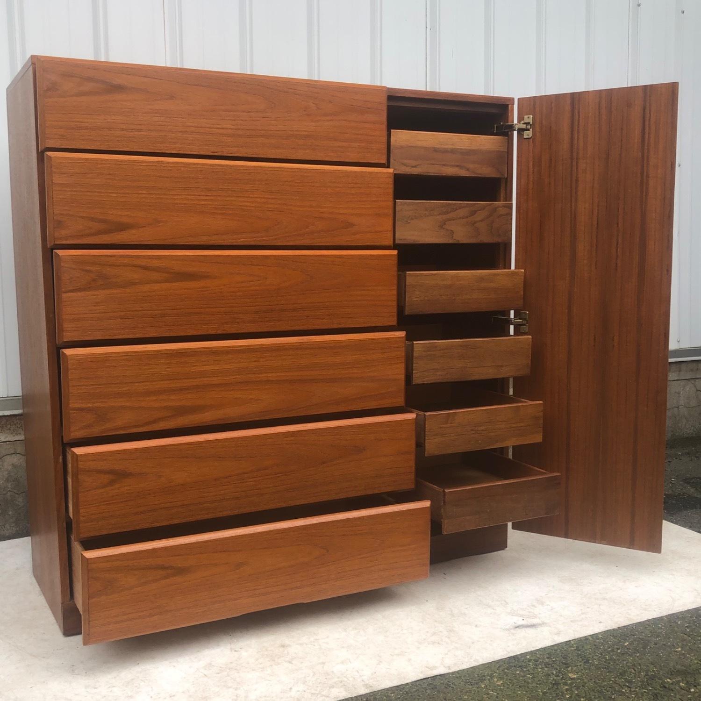Scandinavian Modern Teak Dresser or Armoire - image-3
