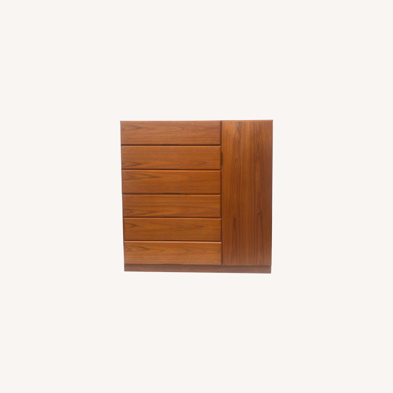 Scandinavian Modern Teak Dresser or Armoire - image-0
