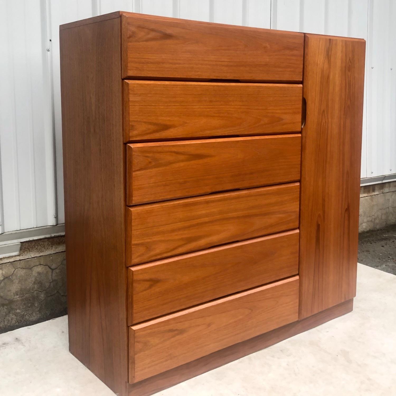 Scandinavian Modern Teak Dresser or Armoire - image-2