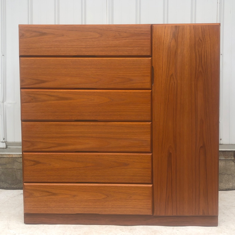 Scandinavian Modern Teak Dresser or Armoire - image-1