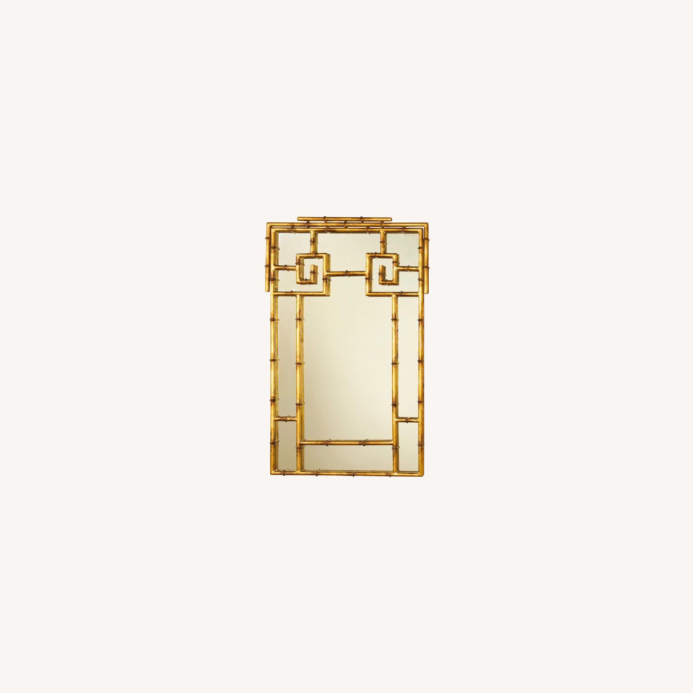 Gold Bamboo Mirrors Hollywood Regency - image-0