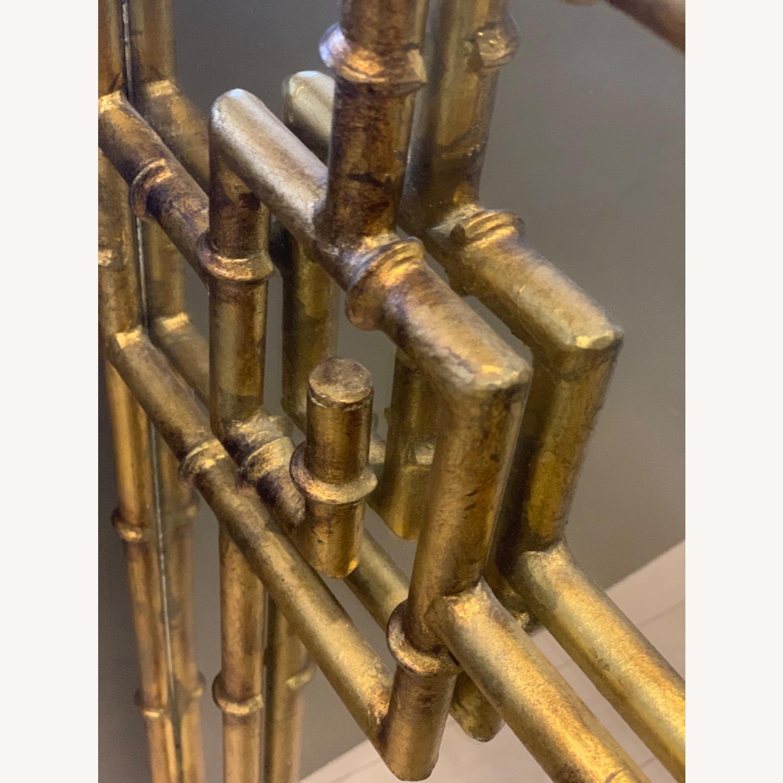 Gold Bamboo Mirrors Hollywood Regency - image-2