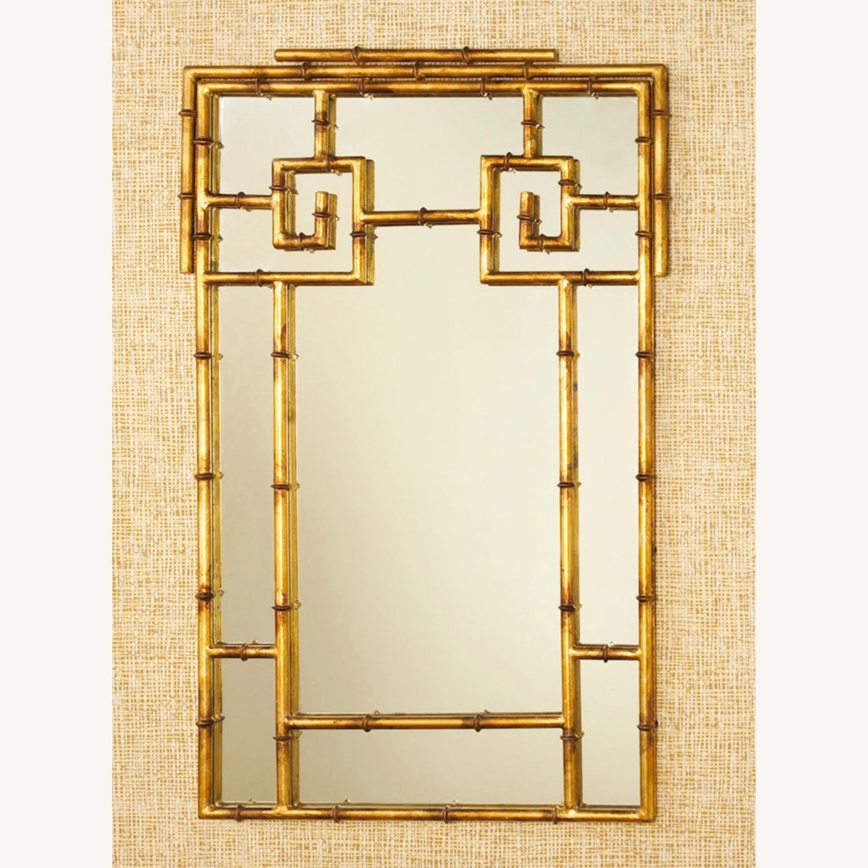 Gold Bamboo Mirrors Hollywood Regency - image-9