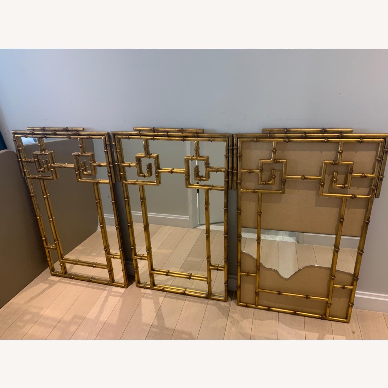 Gold Bamboo Mirrors Hollywood Regency - image-1