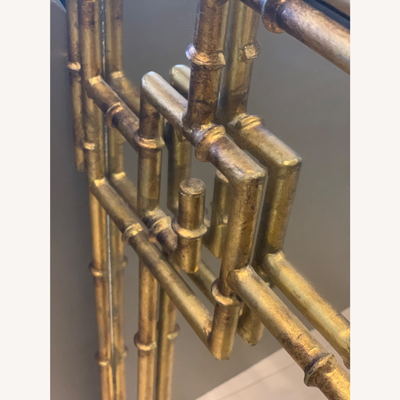 Gold Bamboo Mirrors Hollywood Regency - image-3