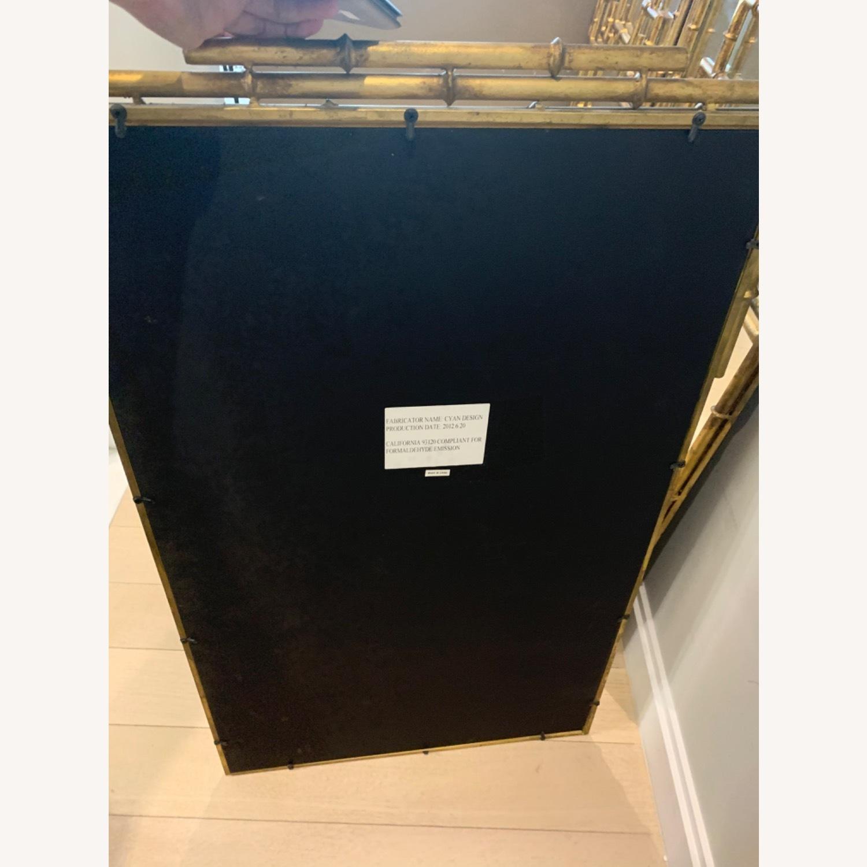 Gold Bamboo Mirrors Hollywood Regency - image-4