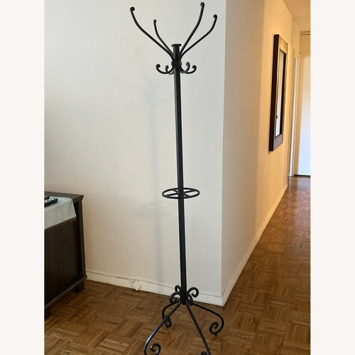 Used Pier 1 Import Wrought Iron Coat Rack for sale on AptDeco