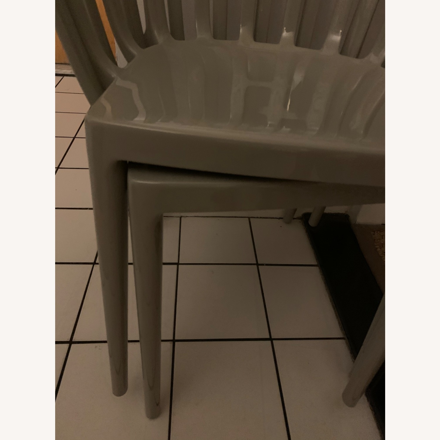 KARTELL Venice Chairs in Dove Gray Set of Two - image-5