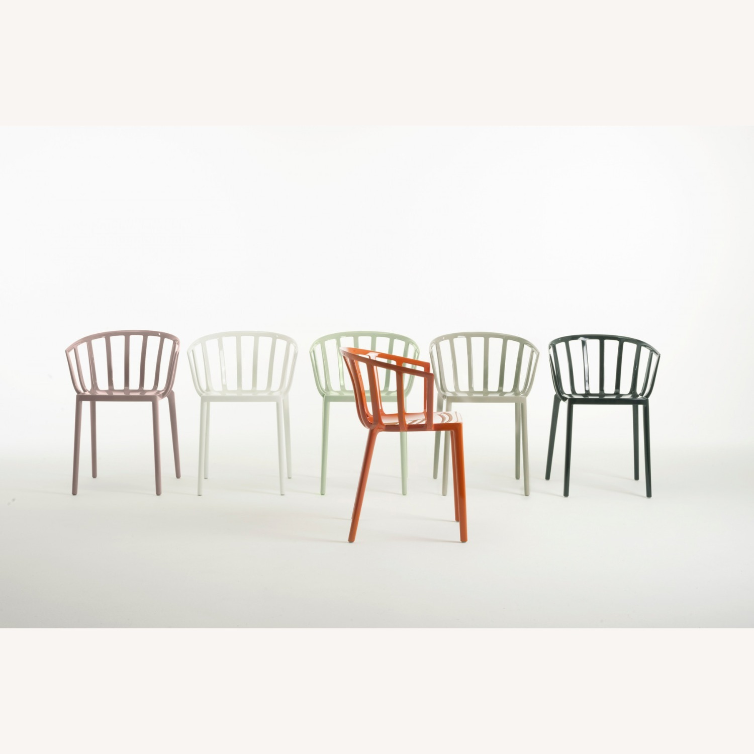KARTELL Venice Chairs in Dove Gray Set of Two - image-3