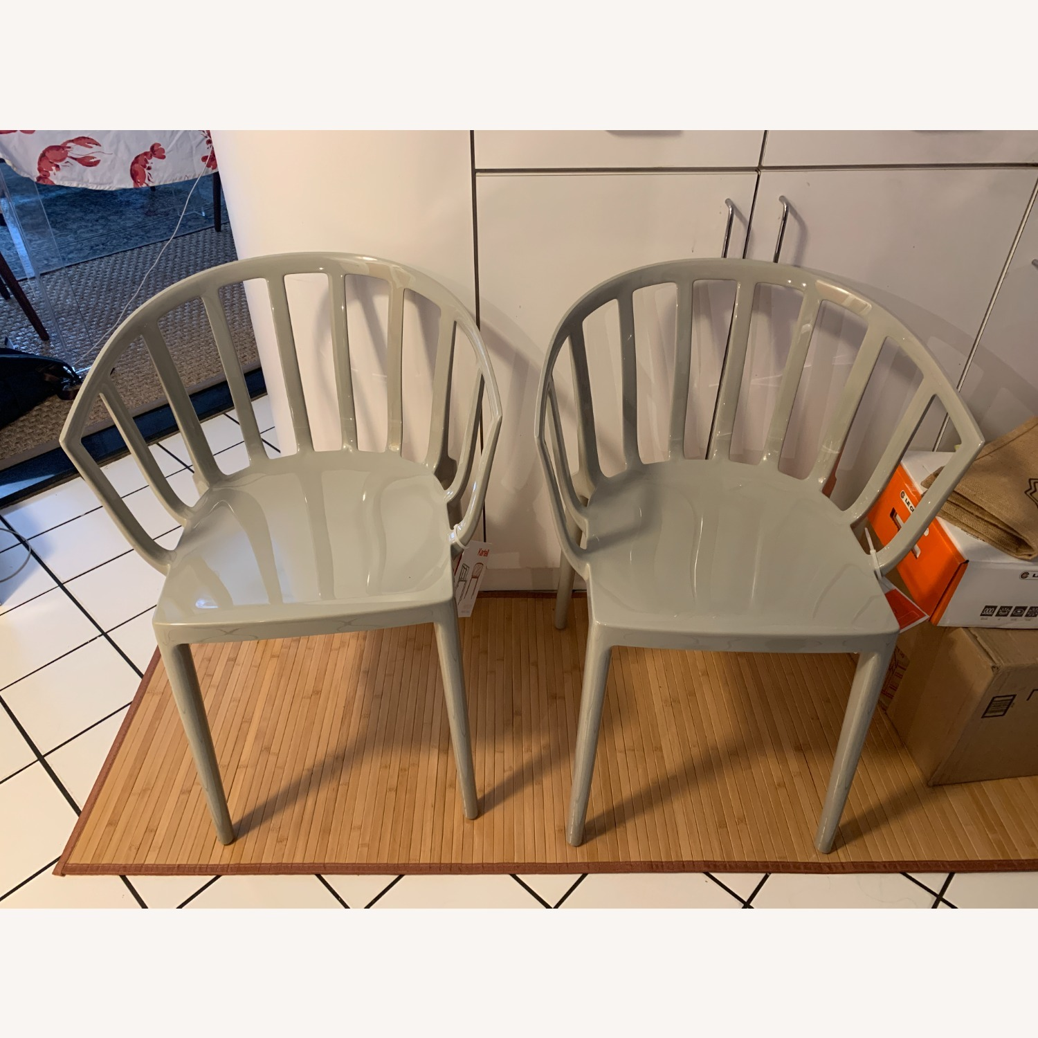 KARTELL Venice Chairs in Dove Gray Set of Two - image-12