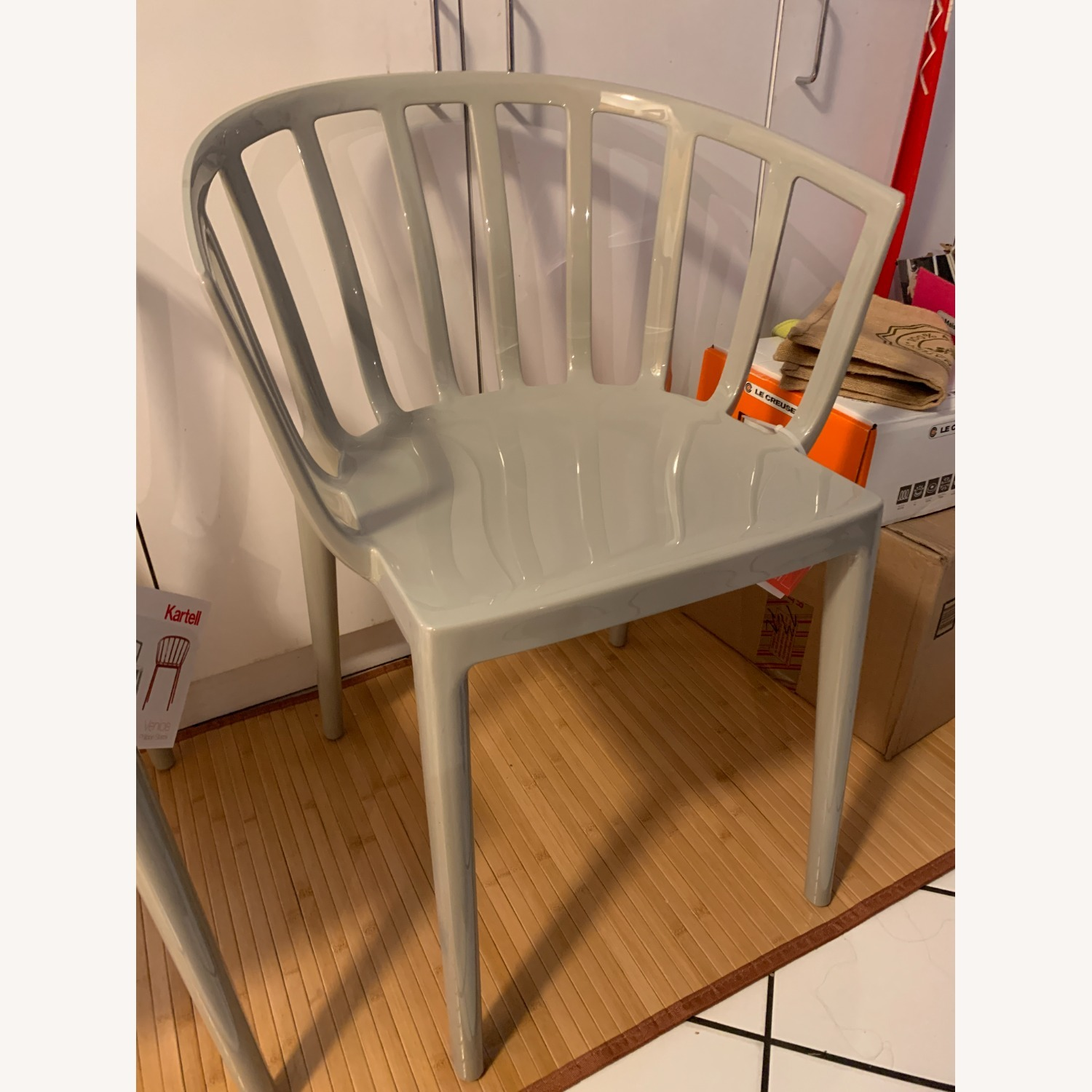 KARTELL Venice Chairs in Dove Gray Set of Two - image-9