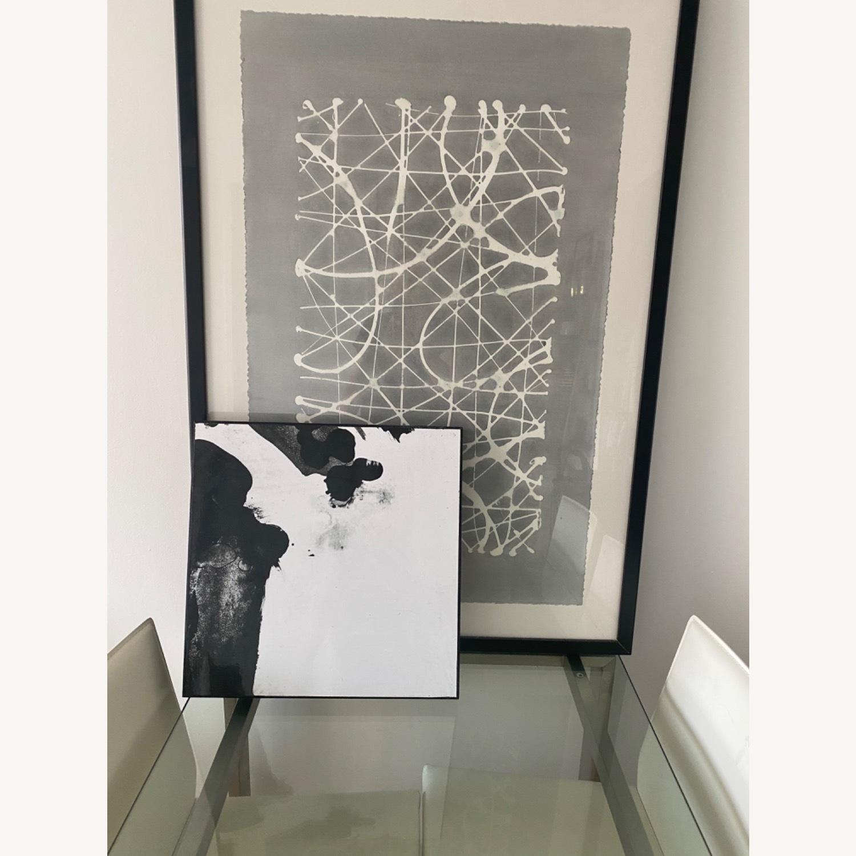 Crate & Barrel Grey Wall Art - image-1