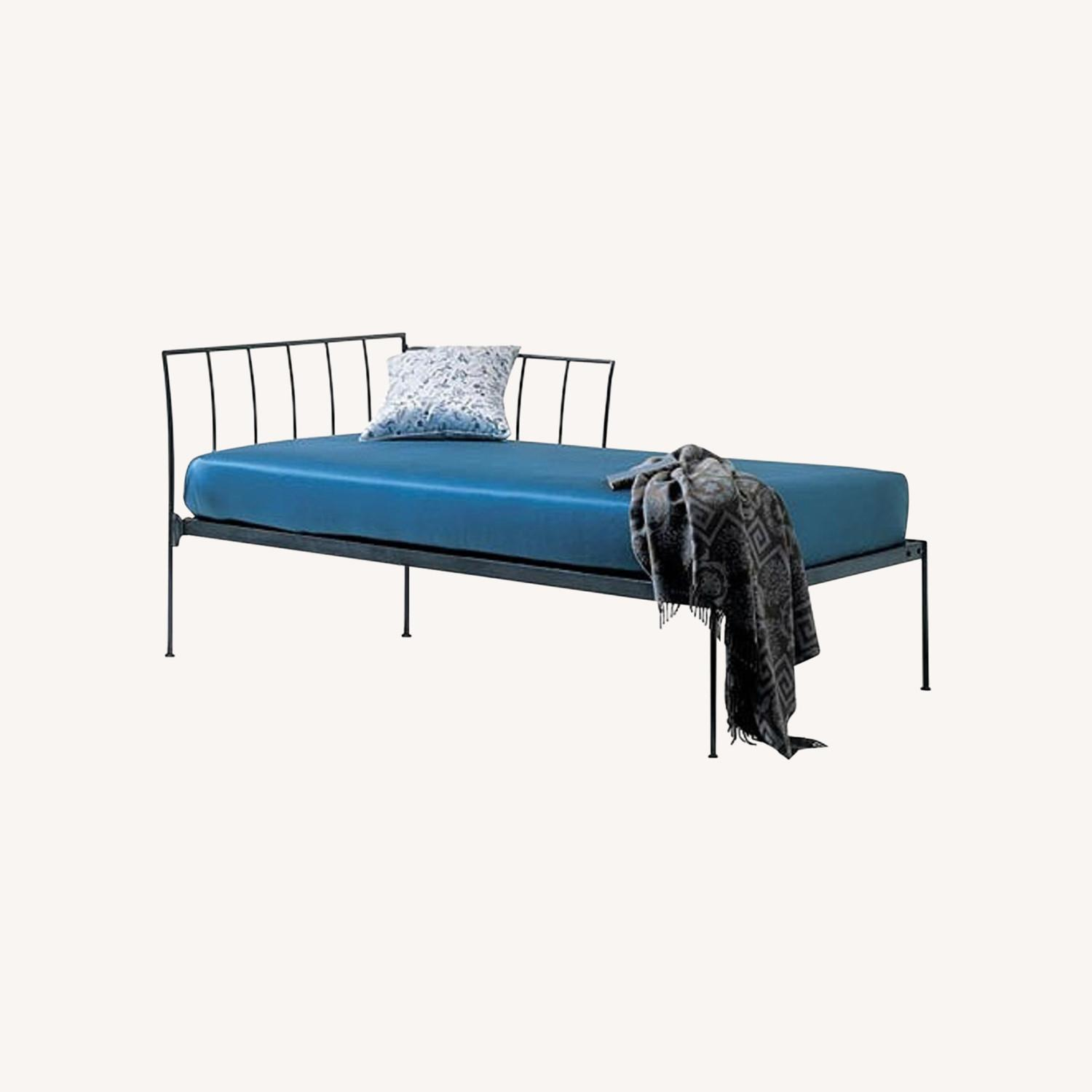 Charles P Rogers Wrought Iron Chaise Daybed - image-0