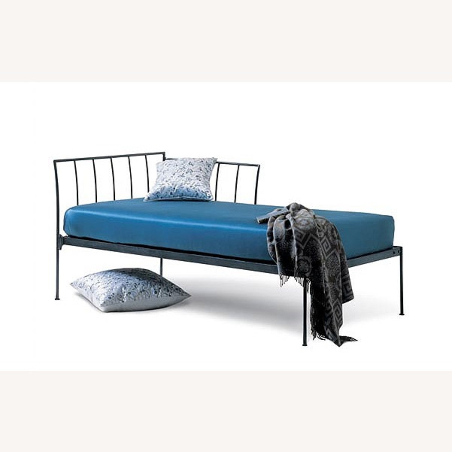Charles P Rogers Wrought Iron Chaise Daybed - image-1
